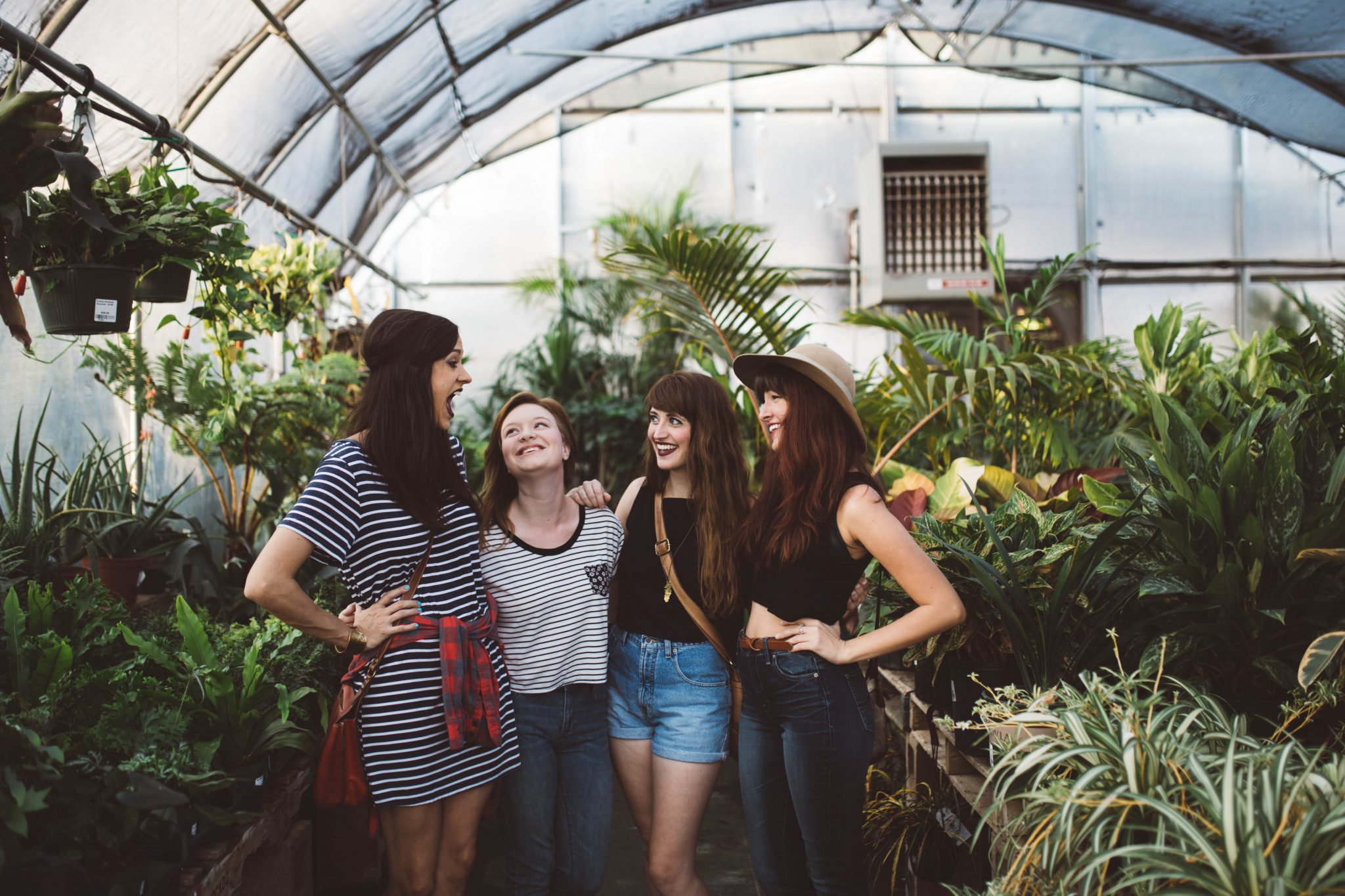 women in greenhouse